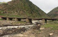 В Чародинском районе поврежден мост, ведущий к четырем селениям (ФОТО)