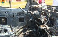 В Махачкале подожгли машину для перевозки отловленного безнадзорного скота