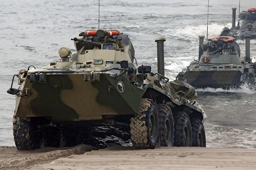 В Дагестане начались военные учения Каспийской флотилии