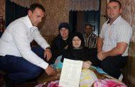 Жительнице Табасаранского района вручили свидетельство о предоставлении жилищной субсидии