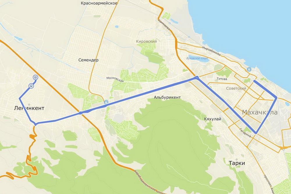 На маршруте Ленинкент – Махачкала сменится компания-перевозчик