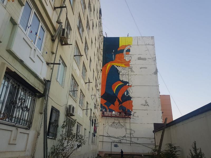 В Дербенте проходит фестиваль стрит-арта «Стена» (ФОТО)