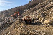 В Гунибском районе взорван горный массив, угрожавший автодороге