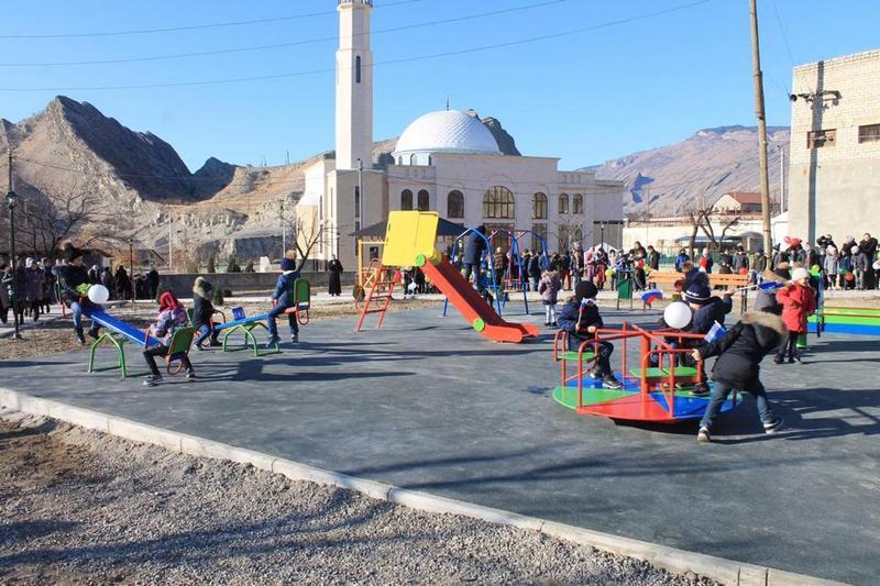 В Гергебильском районе открылась новая парковая зона