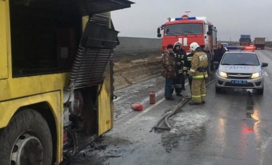 Автобус с 40 пассажирами из Дагестана загорелся под Волгоградом