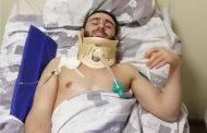 Грэпплер Алиев, получивший на турнире перелом шеи, переведен в обычную палату (ВИДЕО)
