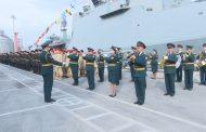 Власти республики и города поздравили военнослужащих 106-й бригады надводных кораблей Каспийской флотилии