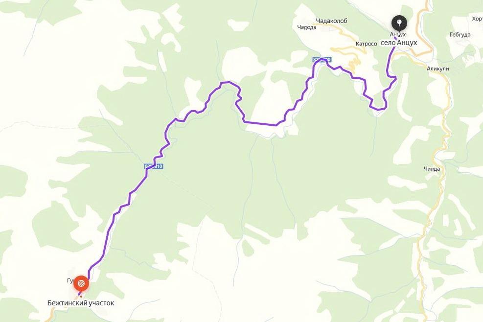На автодорогу между селами Анцух и Гунзиб сошла лавина (ФОТО)