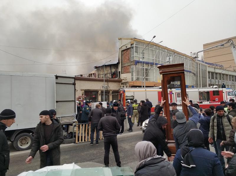 Открытое горение в махачкалинском ТЦ «Пассаж» ликвидировано