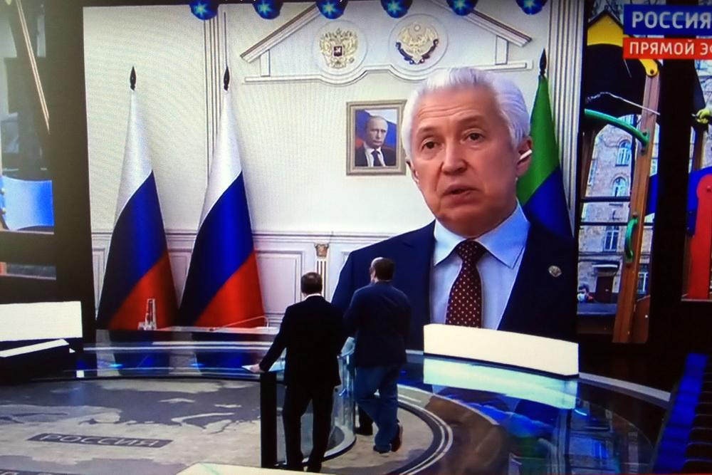 Владимир Васильев возмутился массовым участием дагестанцев в коллективной молитве на фоне коронавируса