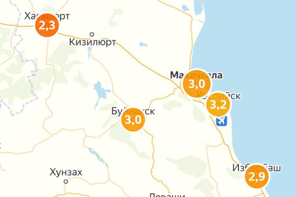 «Яндекс» замерил индекс самоизоляции в городах Дагестана