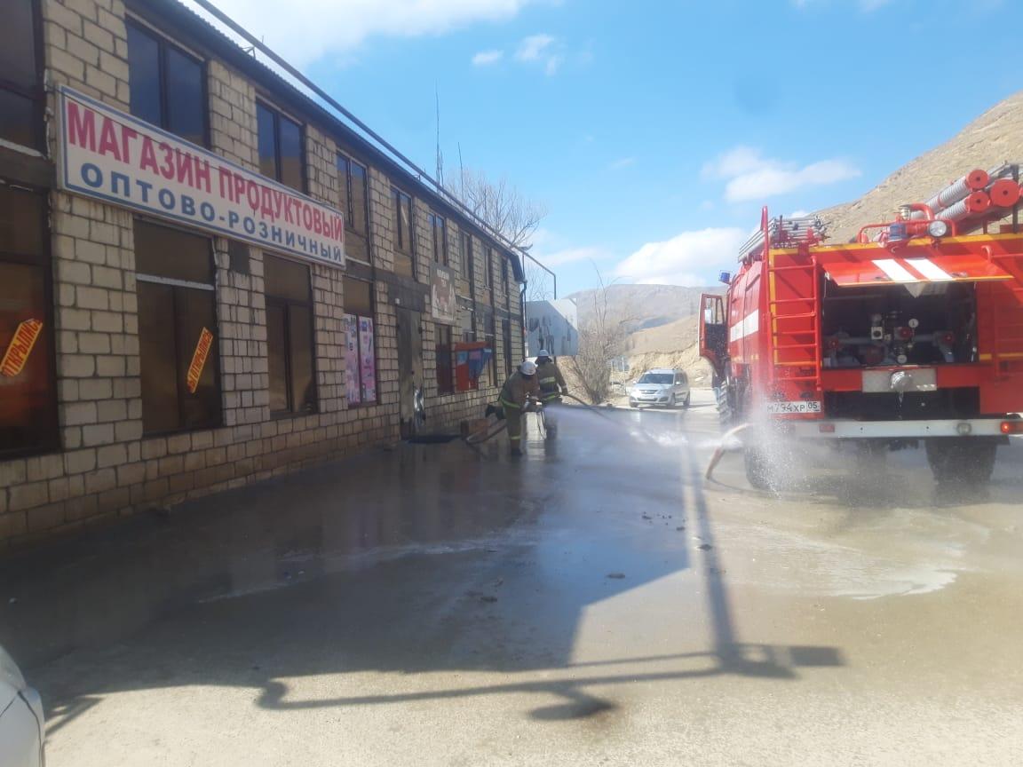Дезинфекция общественных мест прошла в Акушинском районе