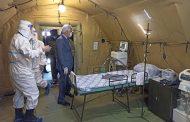 Васильев посетил развернутый в Ботлихе полевой госпиталь для больных коронавирусом