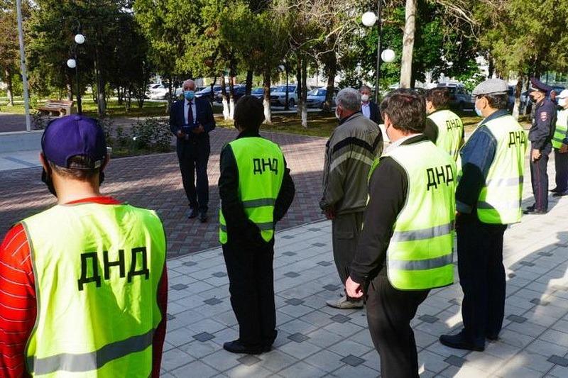 В Кизилюрте народные дружины приступили к наведению порядка накануне Ураза-байрама