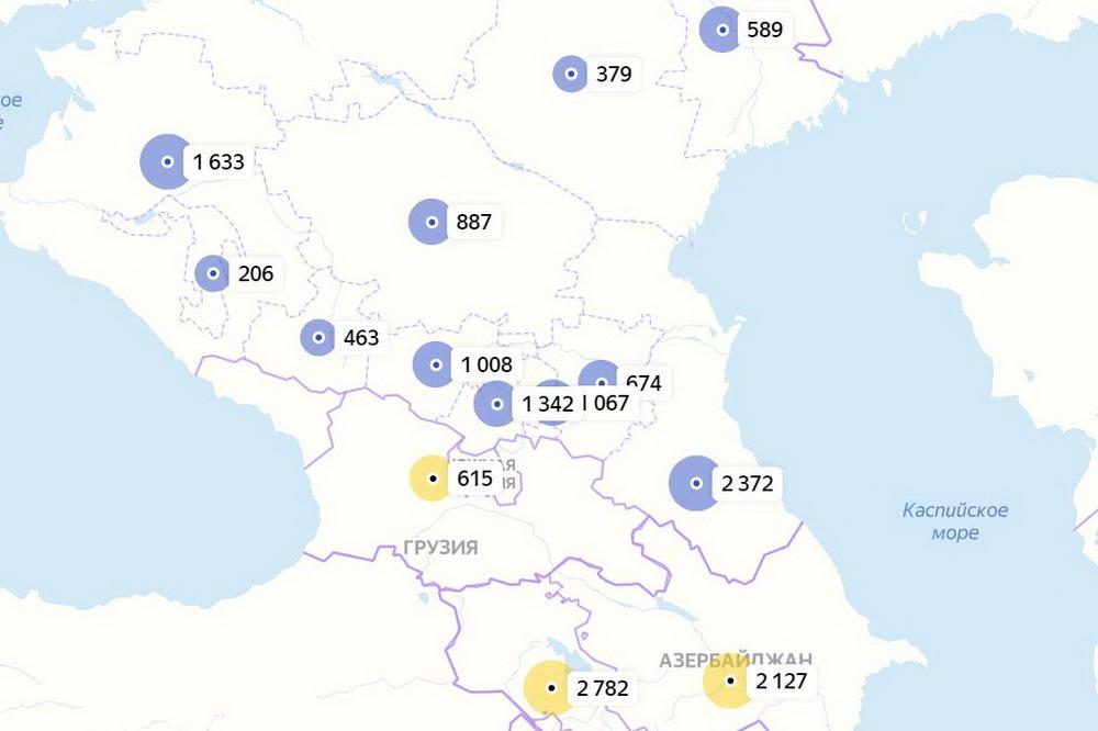 За сутки в Дагестане выявлено 105 новых случаев заражения коронавирусом