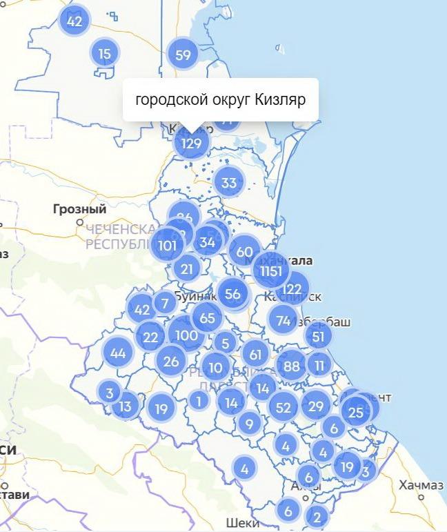 COVID-19 в Дагестане: сводка за 14 мая по городам и районам