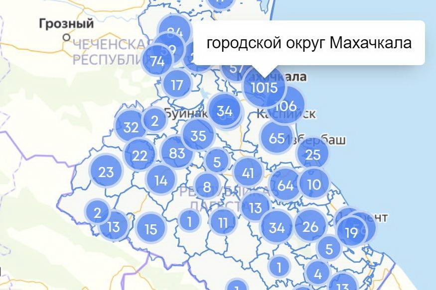 COVID-19: полыхнуло в Хунзахе и Дербенте, в Махачкале больше 1000, в Каспийске больше 100