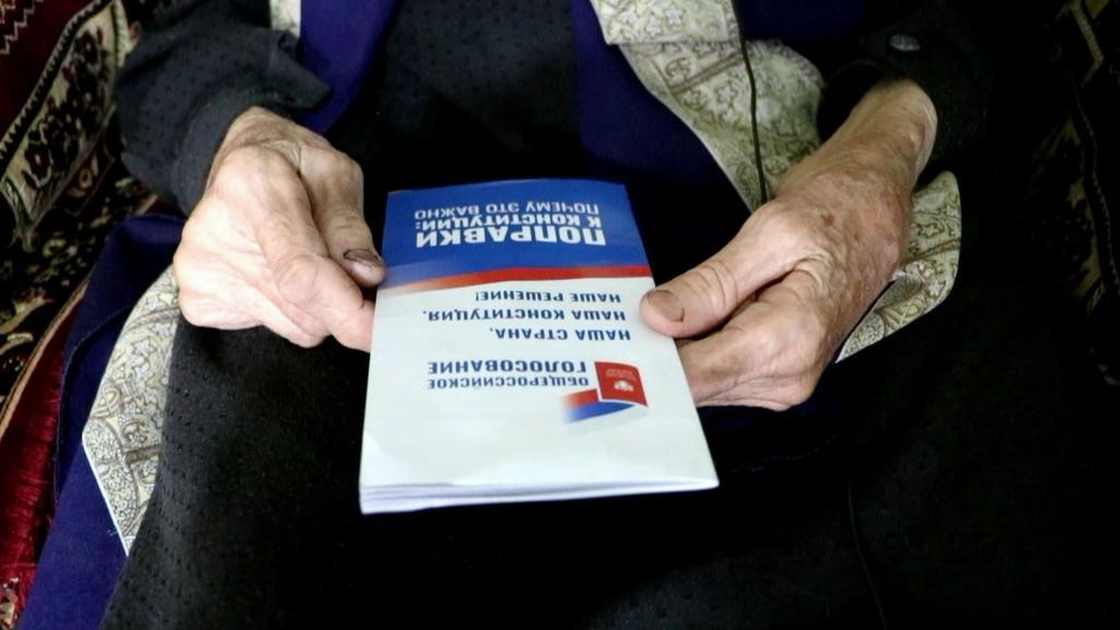 В Кайтагском районе 88-летняя жительница приняла участие в общероссийском голосовании