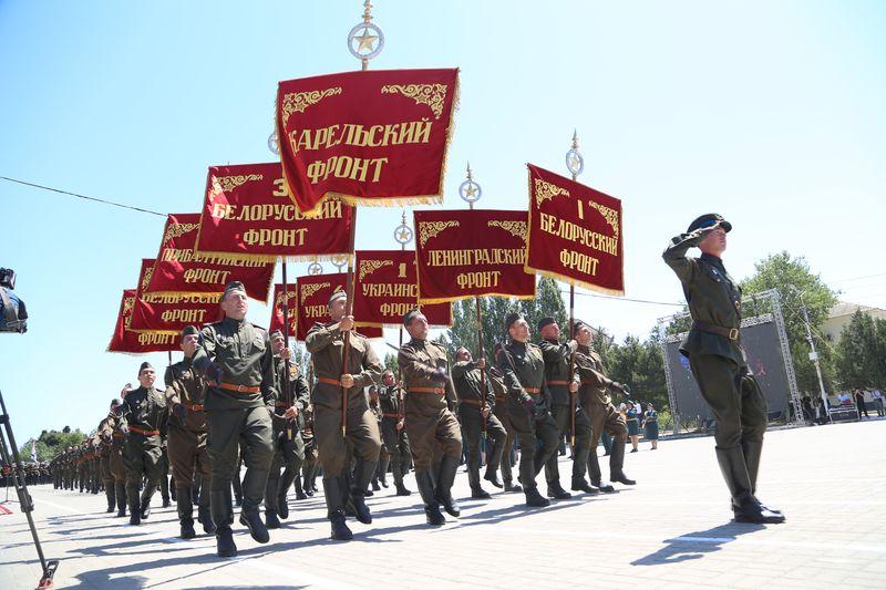 В Каспийске состоялся первый с 2002 года парад Победы