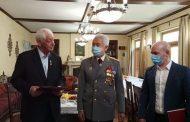Владимир Васильев и Александр Степанов поздравили Магомедали Магомедова с юбилеем