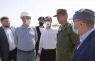 Вице-премьер Дагестана Инсаф Хайруллин посетил строящийся инфекционный центр в Дербенте