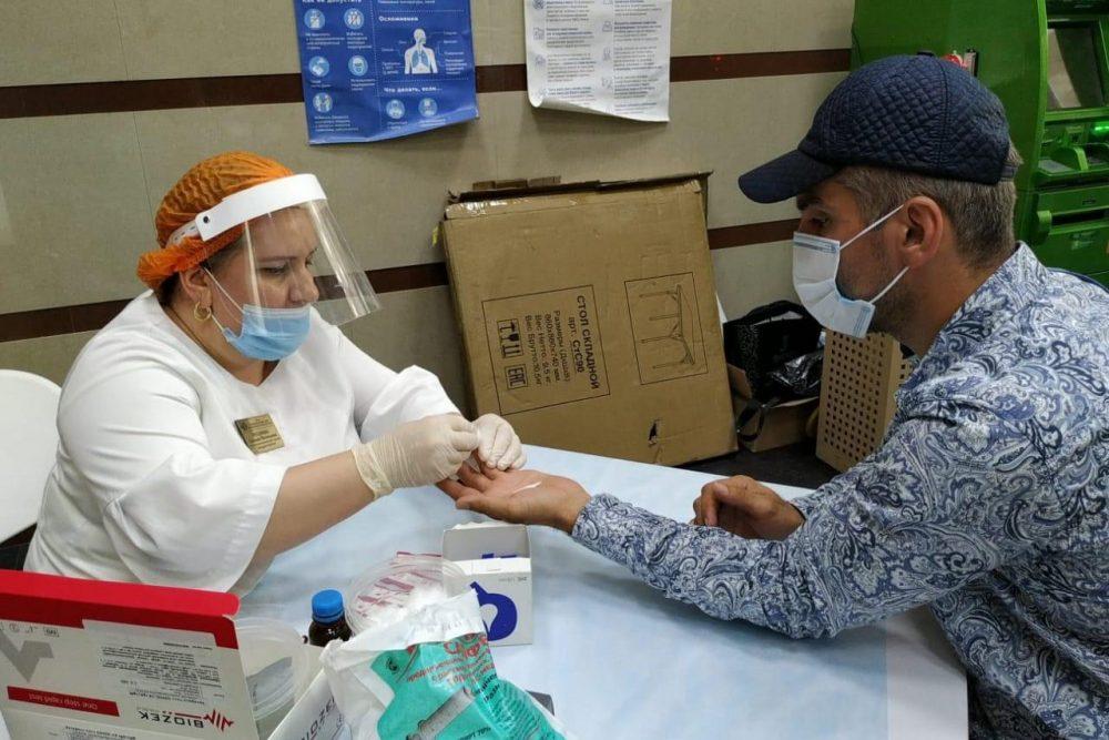 В Махачкале открылся мобильный пункт бесплатного тестирования на COVID