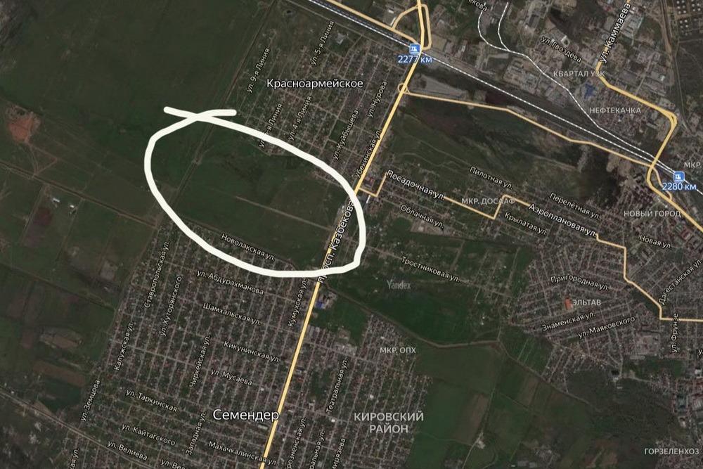 Мэрия Махачкалы вмешалась в земельный конфликт между садоводами и жителями Красноармейского
