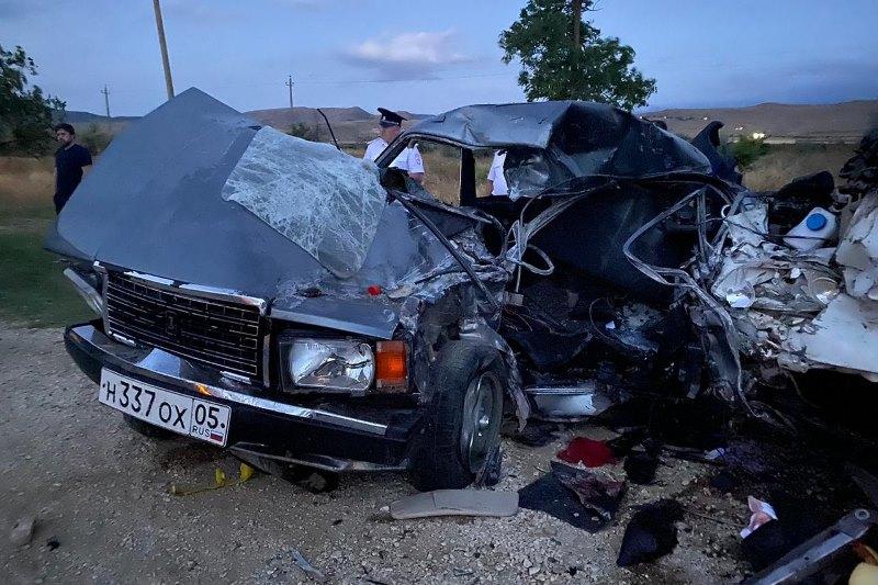 Два человека погибли на трассе в Карабудахкентском районе (ФОТО)