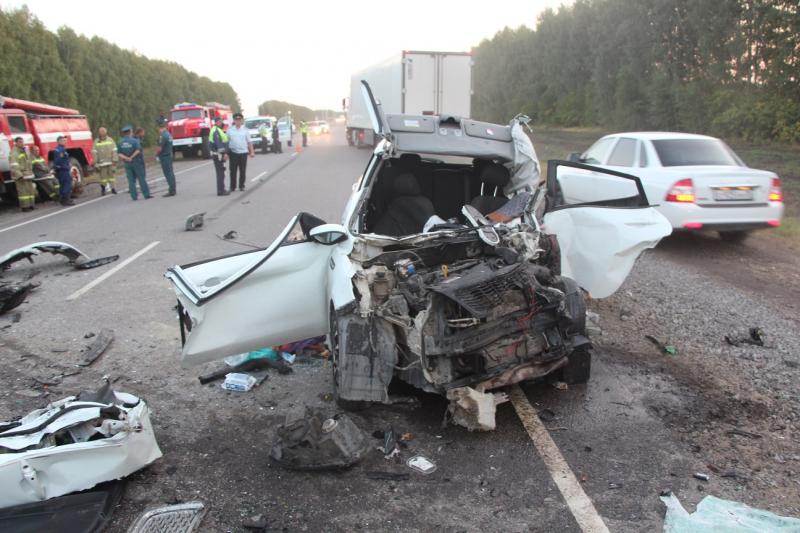 Три человека, ехавшие из Дагестана в Москву, погибли в ДТП в Тамбовской области