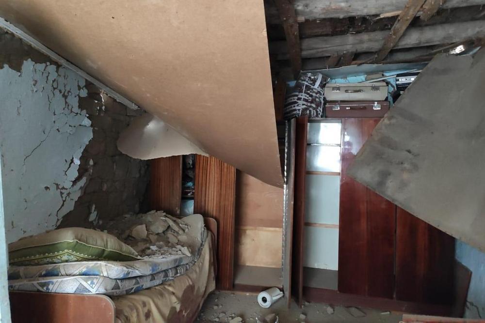 Камнепад в Шамильском районе оставил без крова многодетную семью