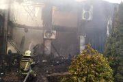 В Махачкале сгорел оздоровительный комплекс «Олимп»
