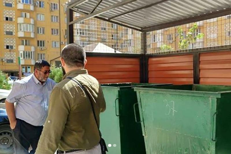 УФСИН заменит колеса в пробной партии мусорных контейнеров в Каспийске
