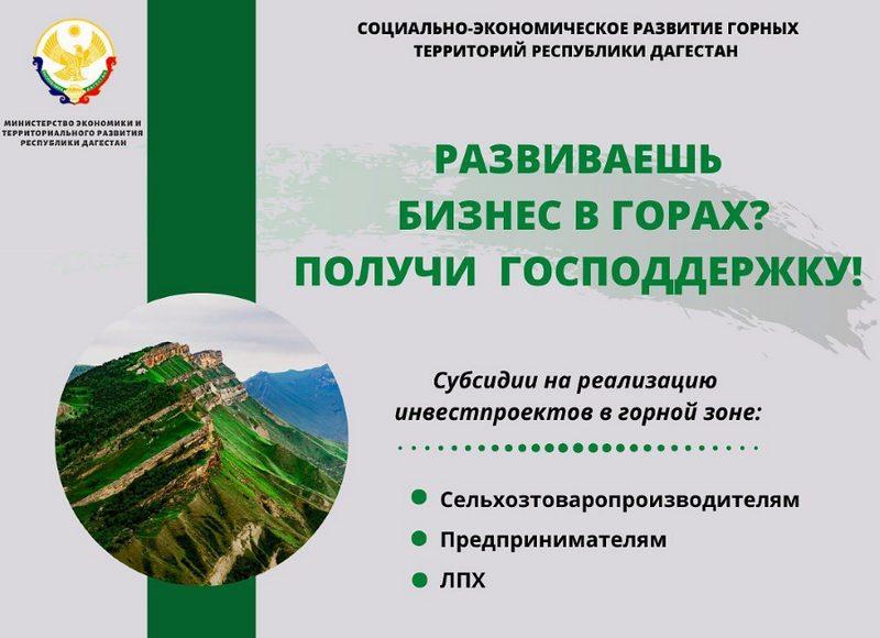 Развиваешь бизнес в горах? Получи господдержку