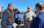 Юрий Трутнев и Сергей Меликов ознакомились с перспективами развития махачкалинского порта
