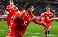 Шапи Сулейманов отдал предголевую передачу в матче Латвия - Россия