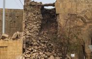 В Дербенте рухнула часть крепостной стены