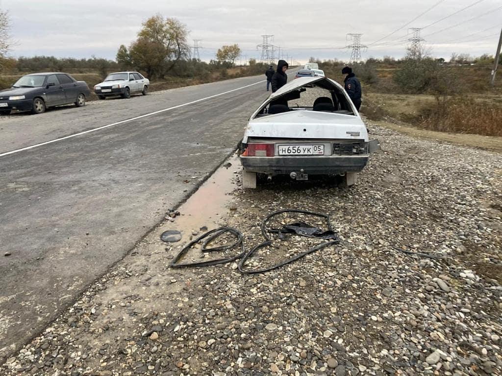 В Хасавюртовском районе опрокинулся автомобиль, водитель погиб