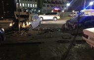 В результате столкновения двух автомобилей в Махачкале погиб водитель одного из них
