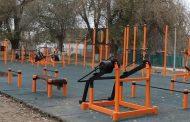 В Ногайском районе установили воркаут-площадку