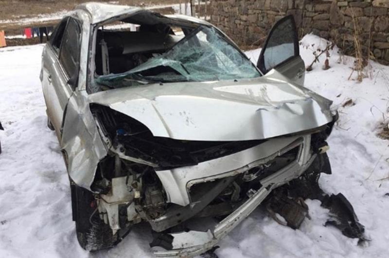 В Агульском районе машина сорвалась с обрыва: пострадали пять человек