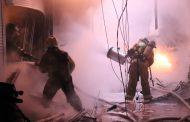 В Махачкале горит торговый павильон «М-Шат»