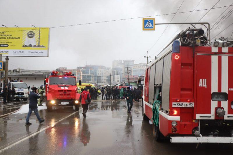 Пожар на рынке в Махачкале ликвидирован