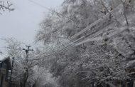 В Дагестане из-за мокрого снега произошли массовые отключения электроэнергии