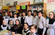 В Новочуртахской школе развернута книжная выставка к 100-летию ДАССР