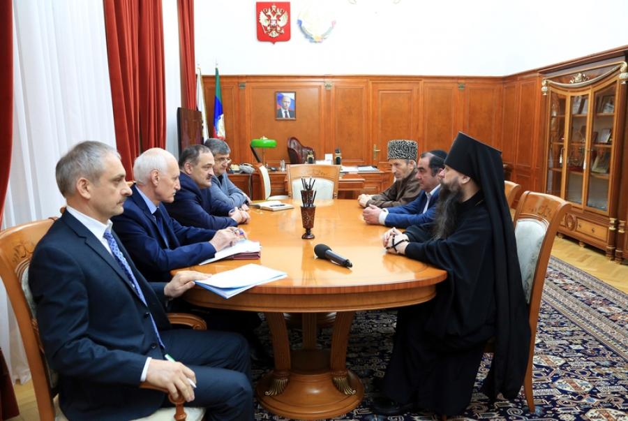 Сергей Меликов встретился с лидерами религиозных объединений Дагестана