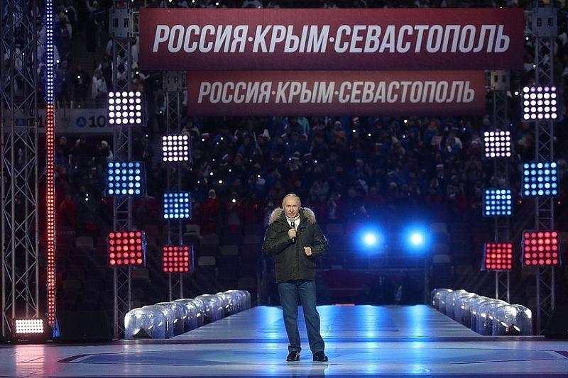 Владимир Путин поздравил россиян с годовщиной присоединения Крыма