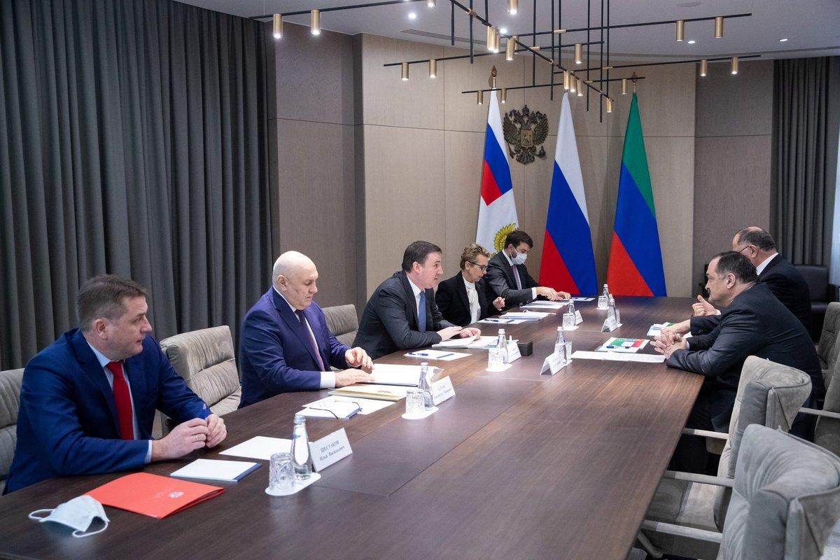 Дмитрий Патрушев и Сергей Меликов обсудили вопросы развития АПК в Дагестане