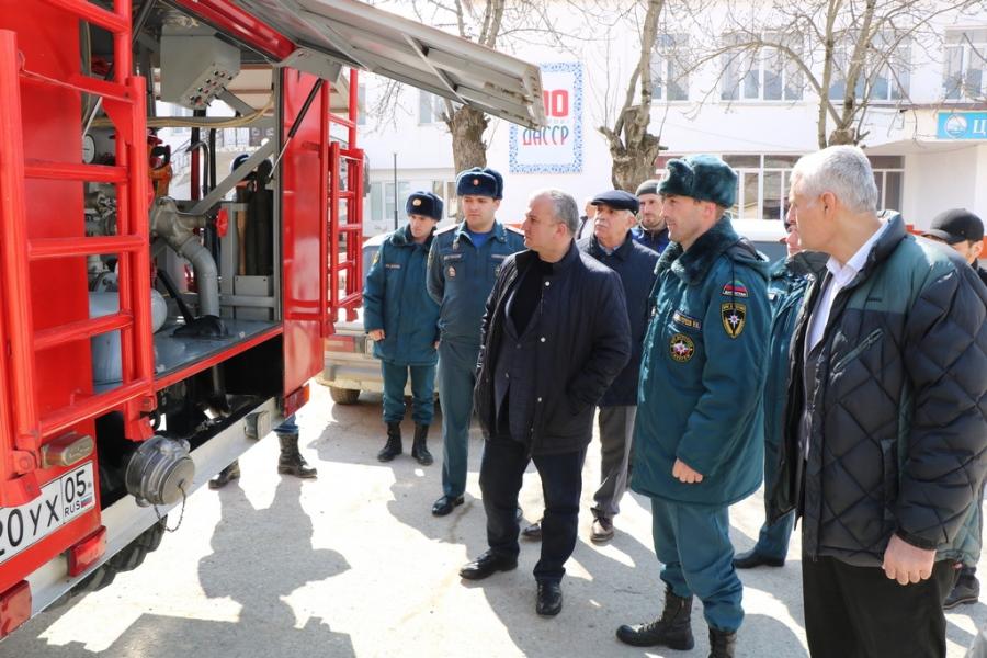 Глава Казбековского района проверил готовность территориальной подсистемы РСЧС