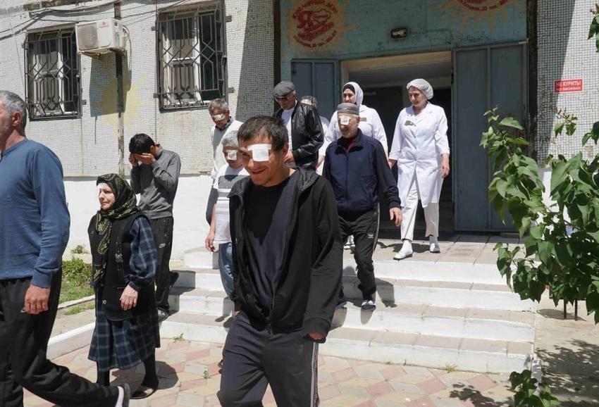 В глазной больнице Махачкалы прошла тренировочная эвакуация