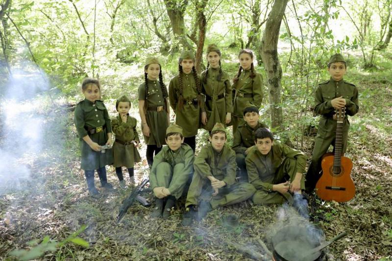 В Кайтагском районе сняли короткометражный фильм на военную тему
